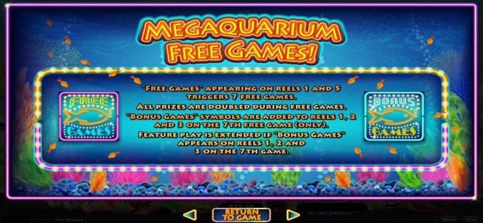 All Online Pokies - Free Games appearing on reels 1 and 5 triggers 7 free games.