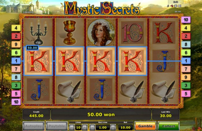 Mystic Secrets by All Online Pokies