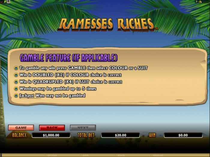 Ramesses Riches by All Online Pokies