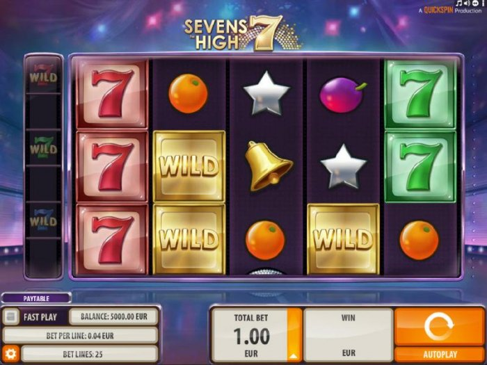 All Online Pokies image of Sevens High