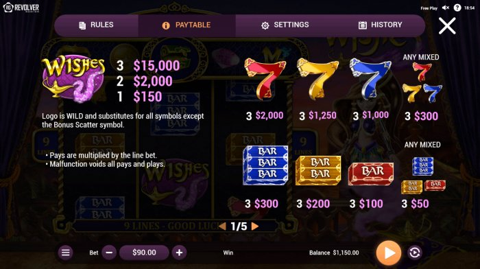 Wishes by All Online Pokies
