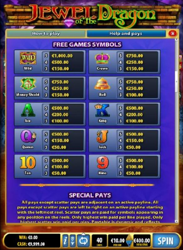 All Online Pokies image of Jewel of the Dragon