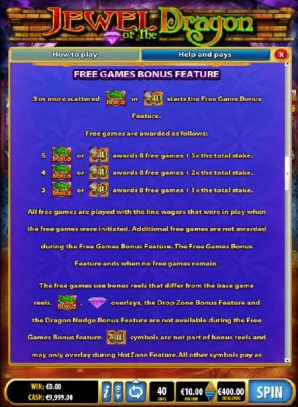 All Online Pokies - Free Games Bonus Feature Rules