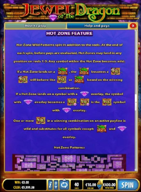 Hot Zone Feature Rules by All Online Pokies