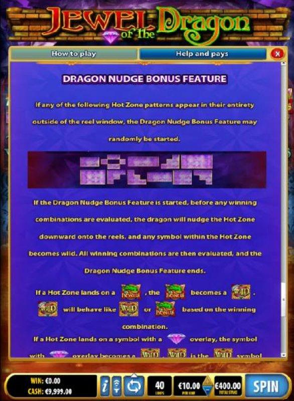 All Online Pokies - Dragon Nudge Bonus Feature Rules