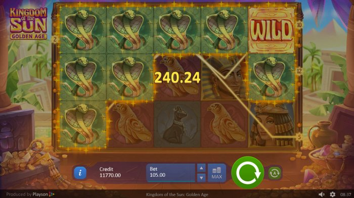Multiple winning paylines triggers a big win - All Online Pokies