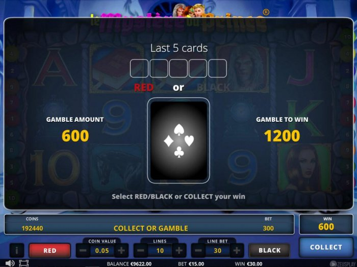 All Online Pokies image of Le Mystere du Prince