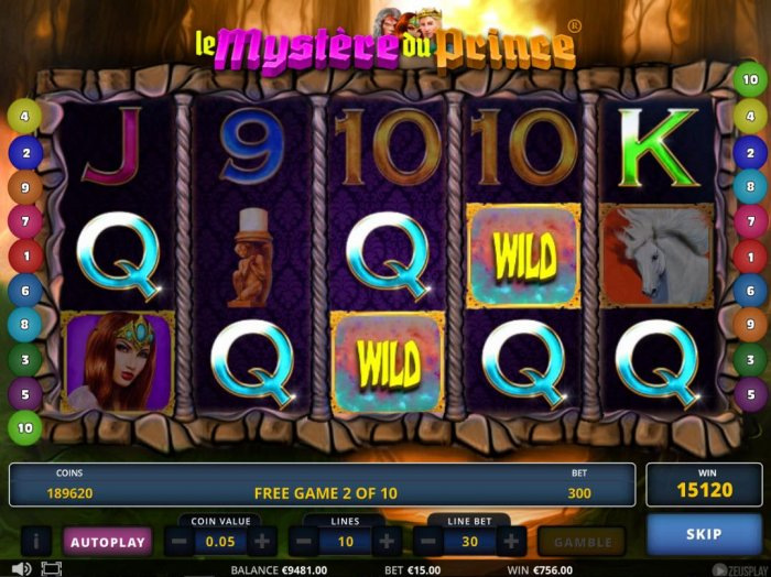 Le Mystere du Prince by All Online Pokies