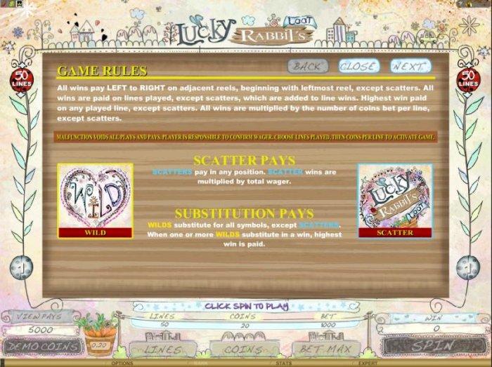 All Online Pokies image of Lucky Rabbit's Loot
