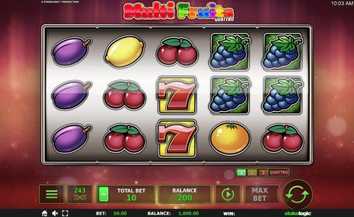 All Online Pokies image of Multi Fruits Quattro