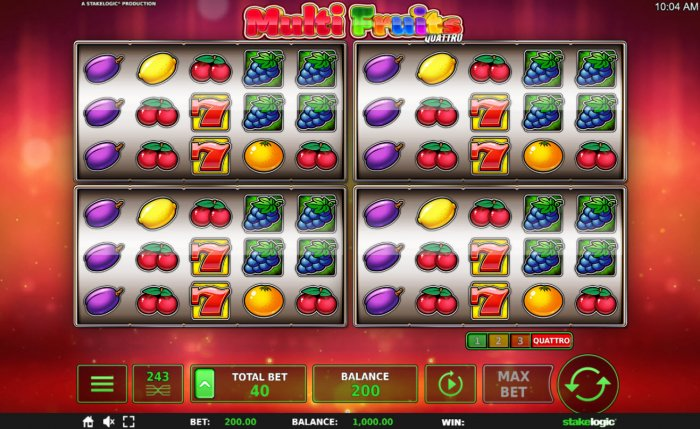 Multi Fruits Quattro screenshot