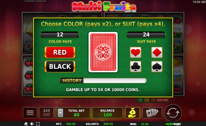 Gamble Feature Game Board by All Online Pokies