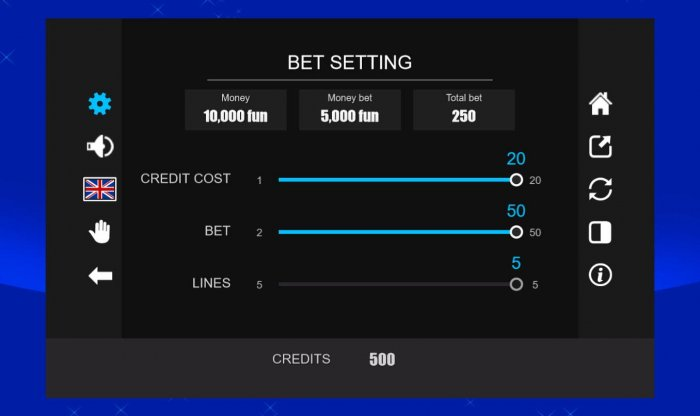Bet Settings - All Online Pokies