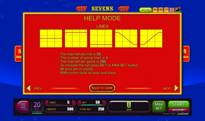 Sevens by All Online Pokies