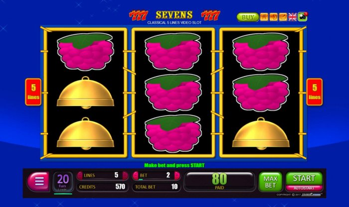 All Online Pokies - Winning payline