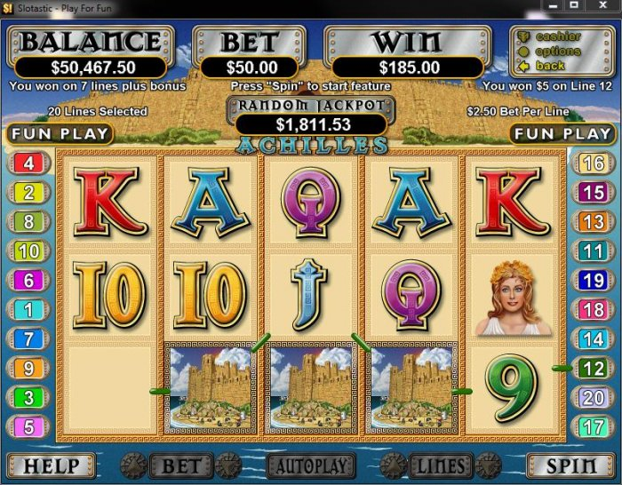Achilles by All Online Pokies