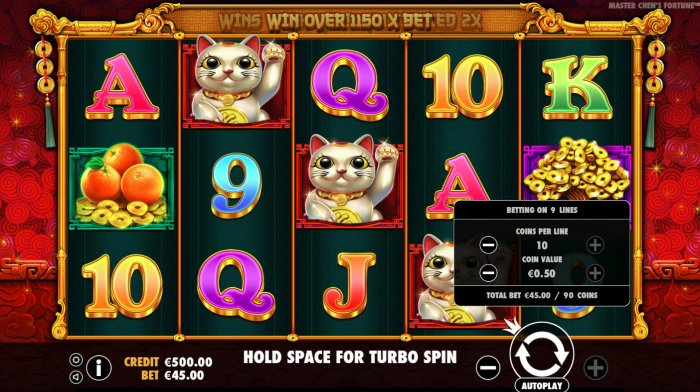 All Online Pokies image of Master Chens Fortune