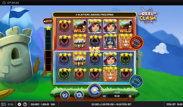 Main Game Board by All Online Pokies