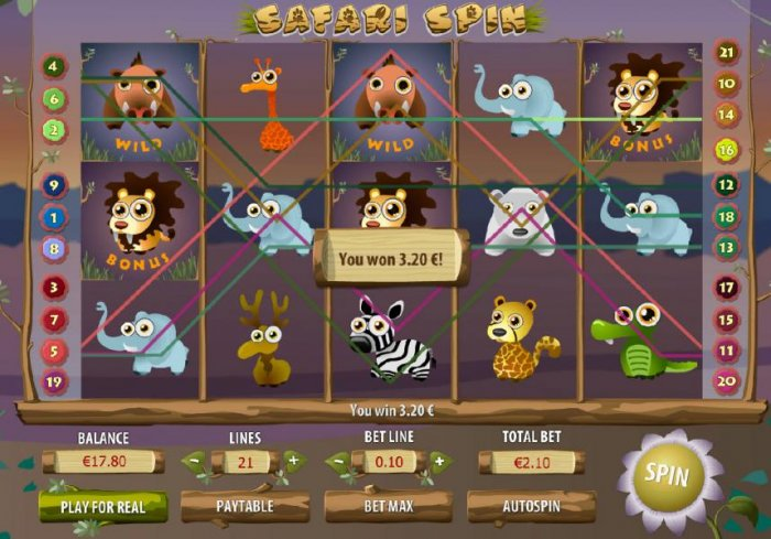 Safari Spin by All Online Pokies
