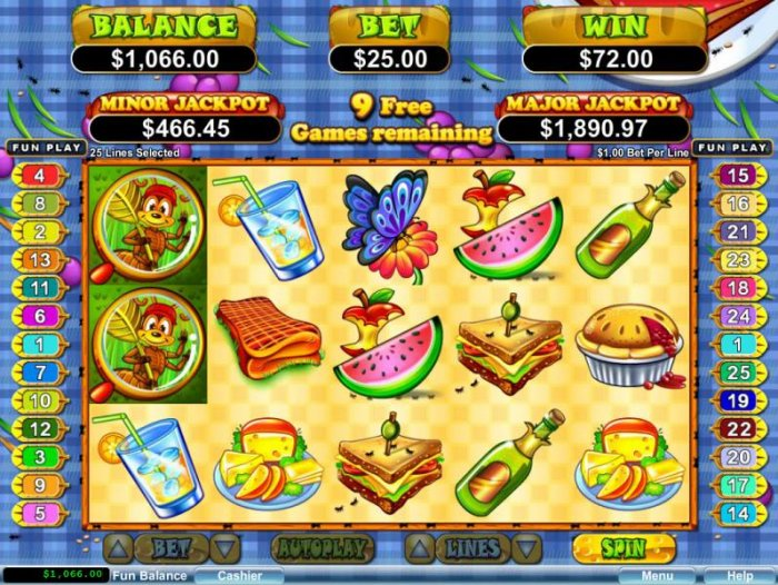 Free Spins game board - All Online Pokies