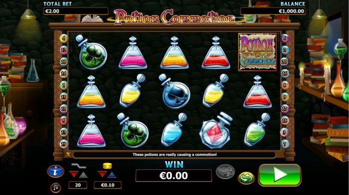 main game board featuring five reels and twenty paylines by All Online Pokies