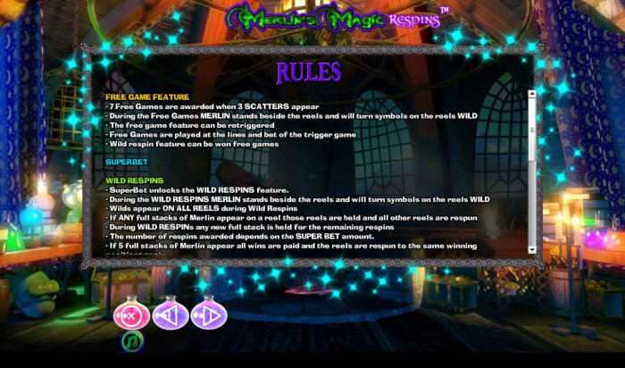All Online Pokies image of Merlin's Magic Respins