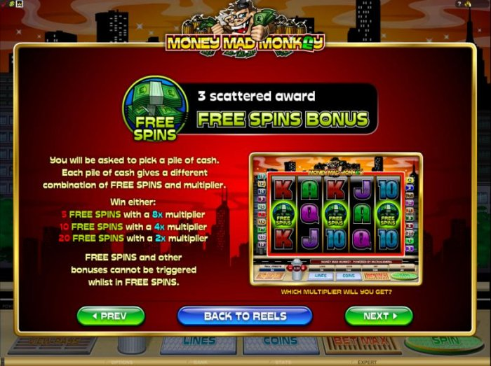 three free spins symbols scattered awards the free spins bonus feature by All Online Pokies