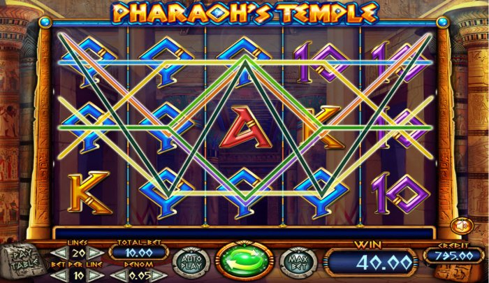 All Online Pokies image of Pharaoh's Temple