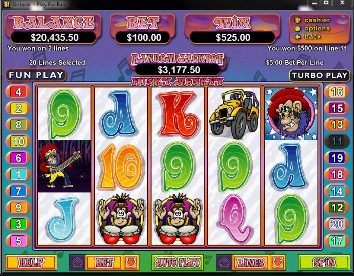All Online Pokies image of Funky Monkey