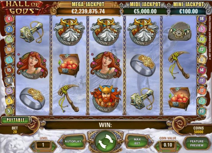 Hall of Gods by All Online Pokies