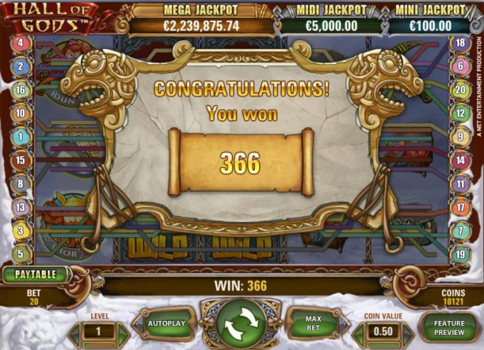 All Online Pokies image of Hall of Gods