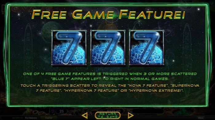 All Online Pokies image of Nova 7's
