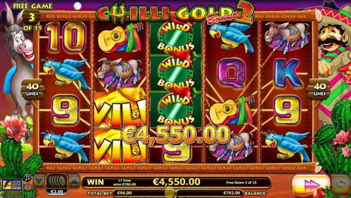 All Online Pokies - A 4,550.00 big win triggered during the free games feature.