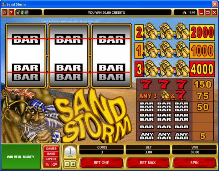 All Online Pokies image of Sand Storm