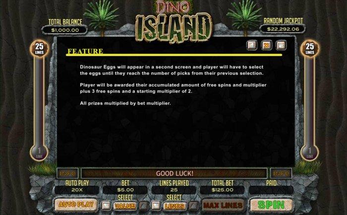 All Online Pokies image of Dino Island