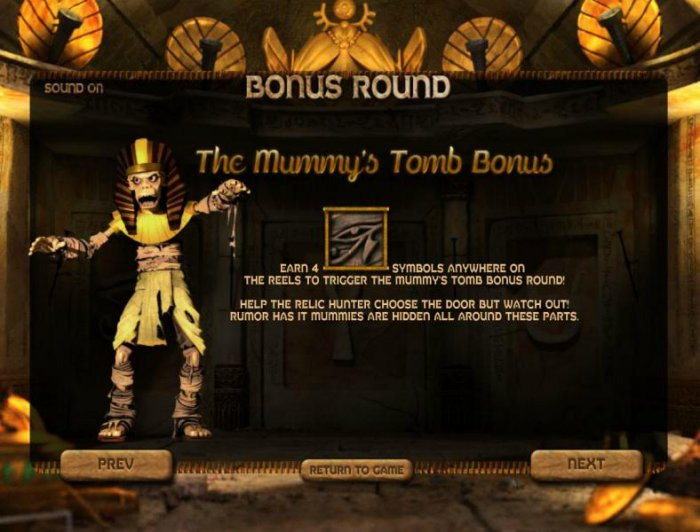 the mummy's tomb bonus feature rules by All Online Pokies