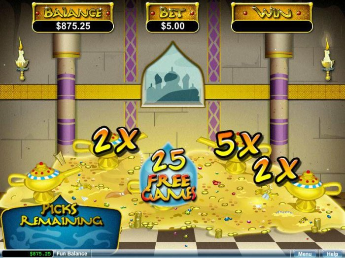 All Online Pokies image of Aladdin's Wishes