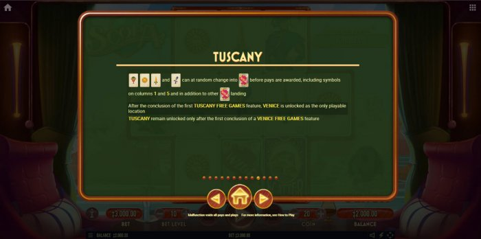 All Online Pokies - Tuscany