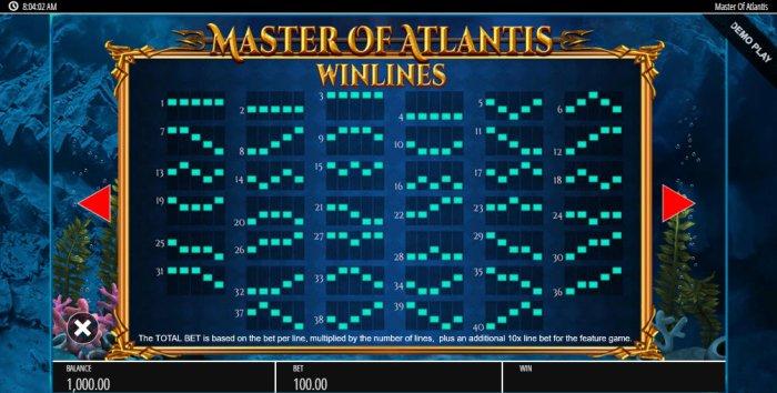 All Online Pokies image of Master of Atlantis