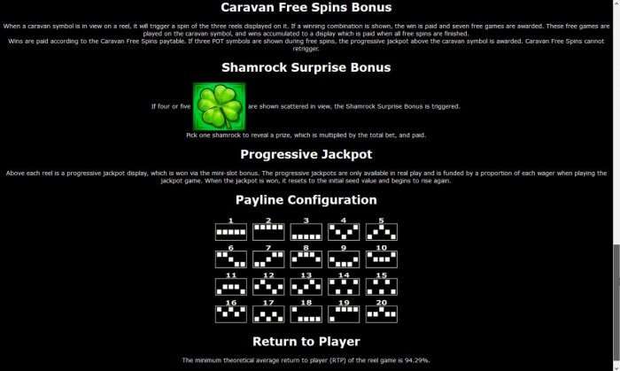 General Game Rules - The theoretical average return to player (RTP) is 94.29%. - All Online Pokies