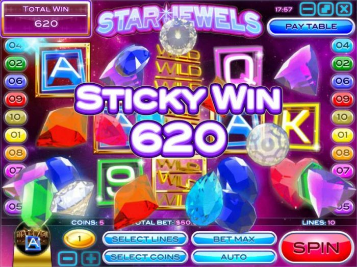 All Online Pokies image of Star Jewels