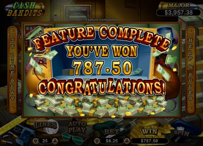 The free games feature pasy out a total of $787.50 - All Online Pokies