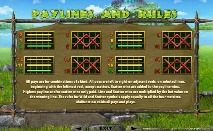 All Online Pokies - Paylines 1-20