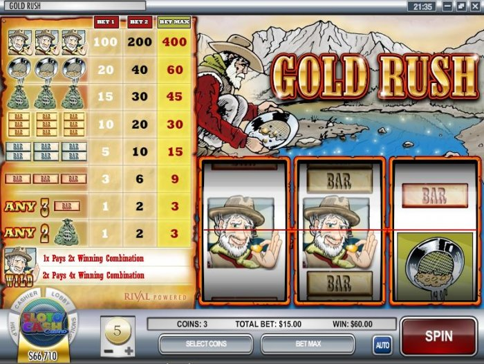Gold Rush by All Online Pokies