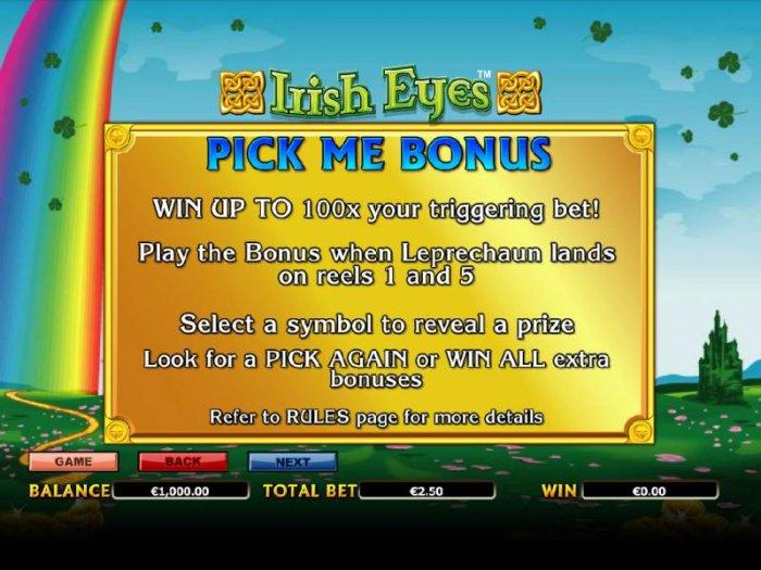 All Online Pokies image of Irish Eyes
