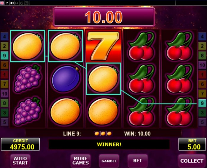 A winning Three of a Kind by All Online Pokies