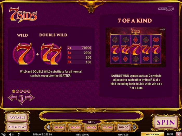 Wild and Double Wild Rules and Pays - All Online Pokies