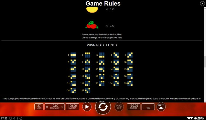 Paylines 1-20 - All Online Pokies