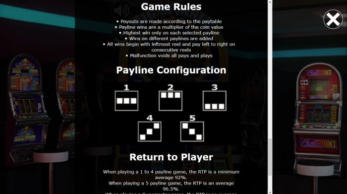 All Online Pokies - Paylines 1-5
