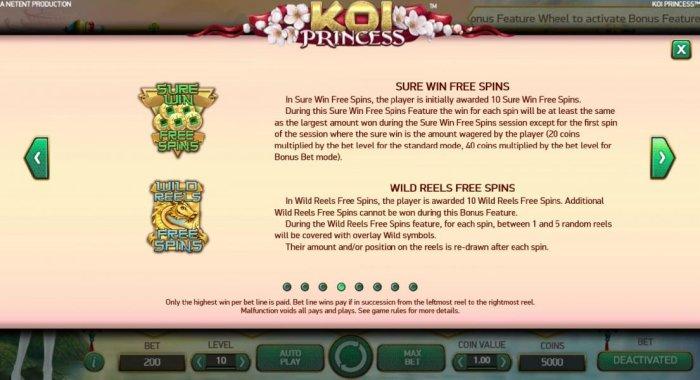 Koi Princess by All Online Pokies